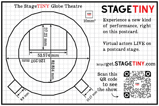 StageTINY Globe Theatre Marker Postcard
